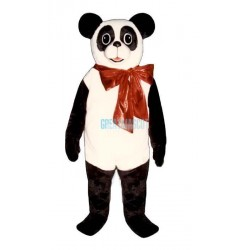 Christmas Panda w-Bow Lightweight Mascot Costume
