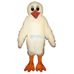 White Chick Lightweight Mascot Costume