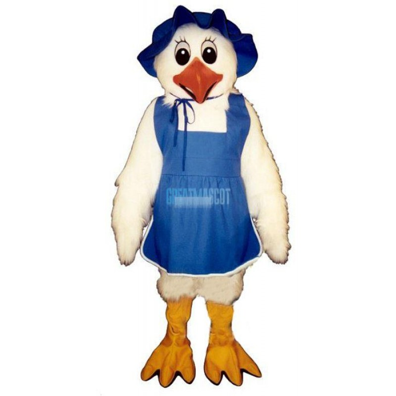 White Chickenw-Hat &Apron Lightweight Mascot Costume