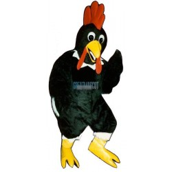 Black Rooster Lightweight Mascot Costume