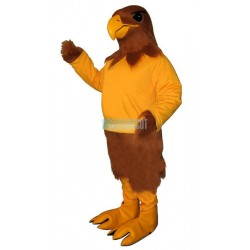 Golden Hawk with Shirt Lightweight Mascot Costume