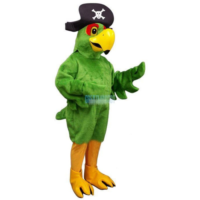 Pirate Parrot w-Hat Lightweight Mascot Costume