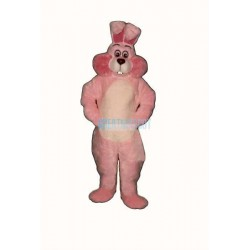 Pink Marsh- mallow Bunny Lightweight Mascot Costume