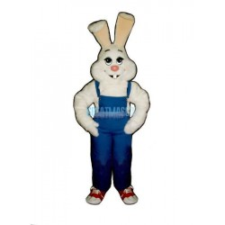 Farmer Rabbit w-Bib Overalls Lightweight Mascot Costume