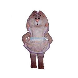 Easter Bunny w-Apron Lightweight Mascot Costume