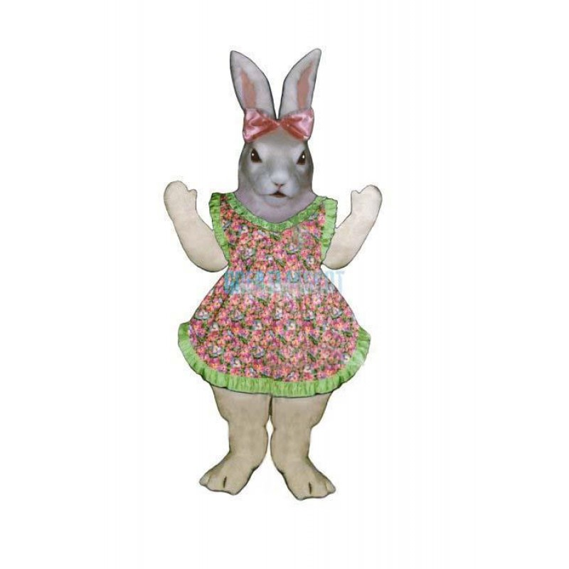 Jill Rabbit w-Apron & Bow Lightweight Mascot Costume