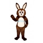 Brown Fat Bunny Lightweight Mascot Costume