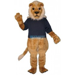 Blonde Lion w- Shirt Lightweight Mascot Costume