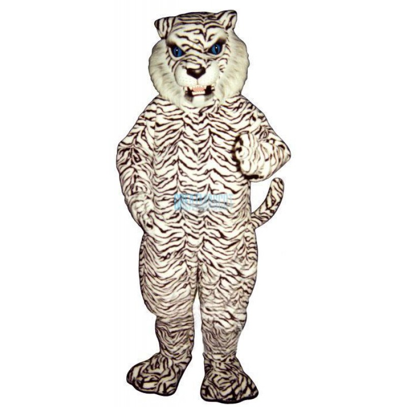 Blue Eyed White Tiger Lightweight Mascot Costume