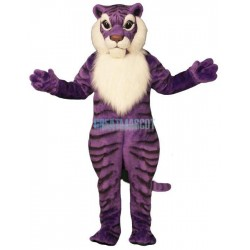 Purple Tiger Lightweight Mascot Costume