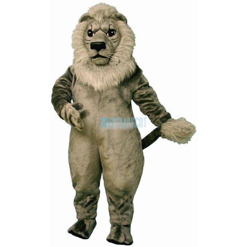 Old Grey Lion Lightweight Mascot Costume