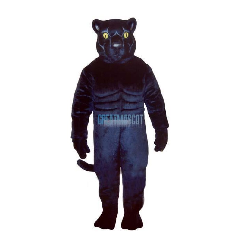 Muscled Panther Lightweight Mascot Costume
