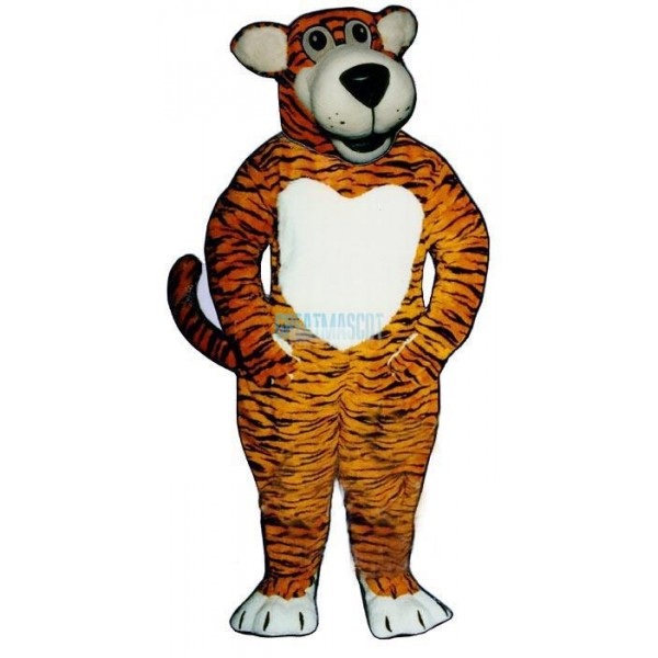 Smiling Tiger Lightweight Mascot Costume