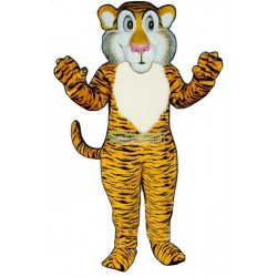 Shy Tiger Lightweight Mascot Costume