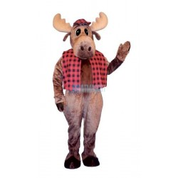 Hunter Moose w-Hat & Vest Lightweight Mascot Costume