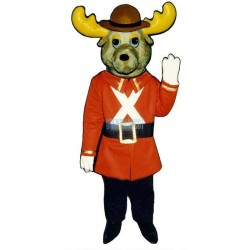 Mounty Moose Lightweight Mascot Costume
