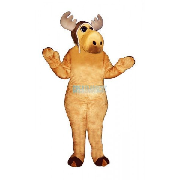 Flying Moose w-Hat Lightweight Mascot Costume