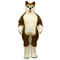 Brown Husky Lightweight Mascot Costume