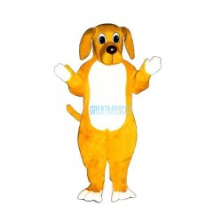 Yellow Hound Lightweight Mascot Costume