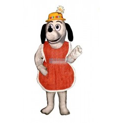 Gertie Greyhound w-Apron & Hat Lightweight Mascot Costume