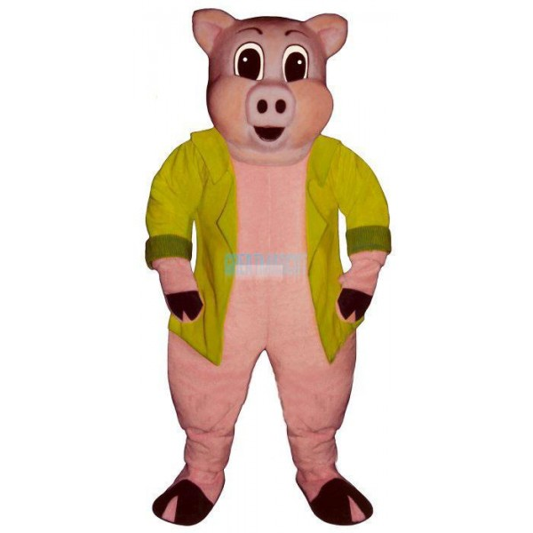Big Pig w-Jacket Lightweight Mascot Costume
