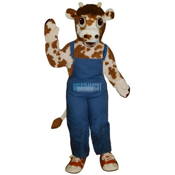 Calf w-Overalls & Shoes Lightweight Mascot Costume
