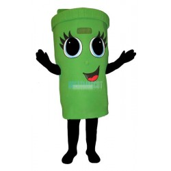Girl Recycle Can Lightweight Mascot Costume
