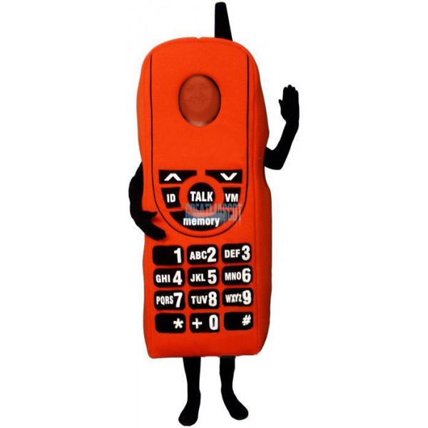 Red Cell Phone Lightweight Mascot Costume