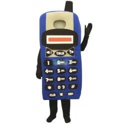 Blue Cell Phone Lightweight Mascot Costume