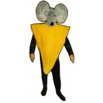 Cheese Slice w-Mouse Hood Lightweight Mascot Costume