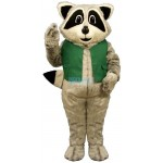 Raccoon w-Vest Lightweight Mascot Costume