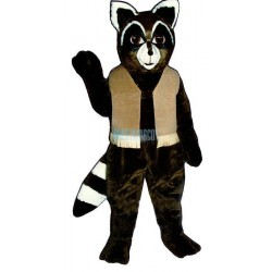 Ryan Raccoon w-vest Lightweight Mascot Costume