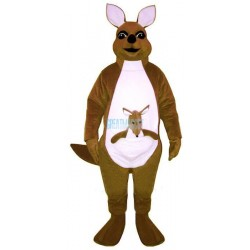 Mrs. Kangaroo w-Joey Lightweight Mascot Costume