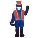 Blue Monkeyw-Vest & Hat Lightweight Mascot Costume