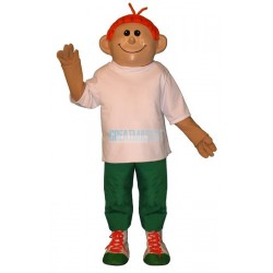 Red Headed Boy Lightweight Mascot Costume
