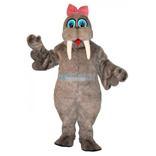 Wilma Walrus with Bow Lightweight Mascot Costume