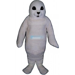 White Baby Seal Lightweight Mascot Costume