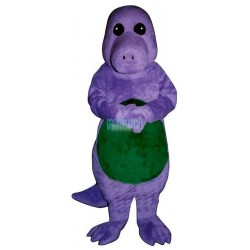 Purple Dinosaur Lightweight Mascot Costume