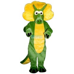 Green Triceratops Lightweight Mascot Costume