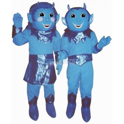 Girl Blue Devil Lightweight Mascot Costume