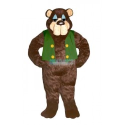 Bramble Bear w-Vest Lightweight Mascot Costume