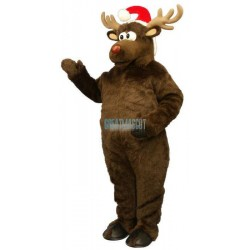 Christmas Deer w-Hat Lightweight Mascot Costume