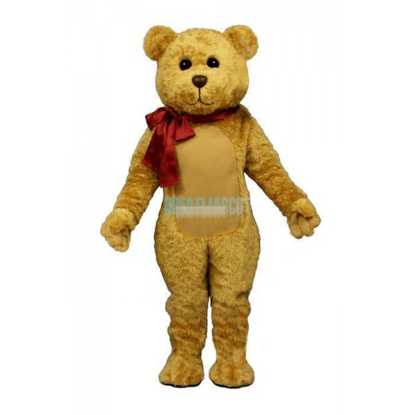 Stuffed Teddy w-Bow Lightweight Mascot Costume