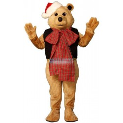 Fancy Bear w-VestBow & Hat Lightweight Mascot Costume