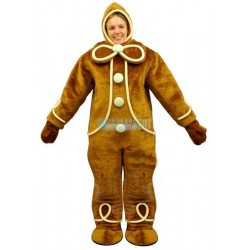 Ginger Bread w-Hood Lightweight Mascot Costume