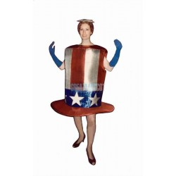 Star-Spangled Hat Lightweight Mascot Costume