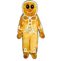 Gingerbread Boy Lightweight Mascot Costume