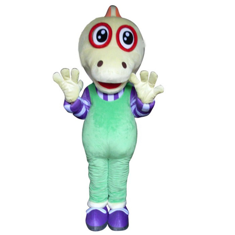 Adult Best Friendly Alien With Green Overalls Mascot Costume