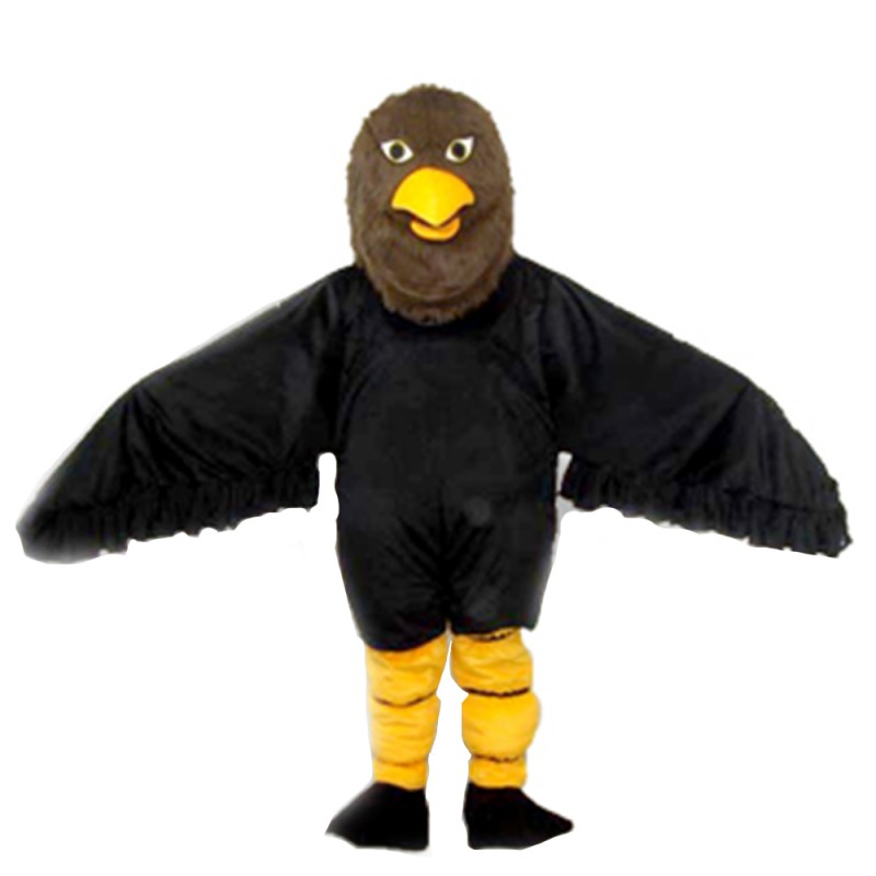 Adult Best Strong Black & Brown Eagle Mascot Costume