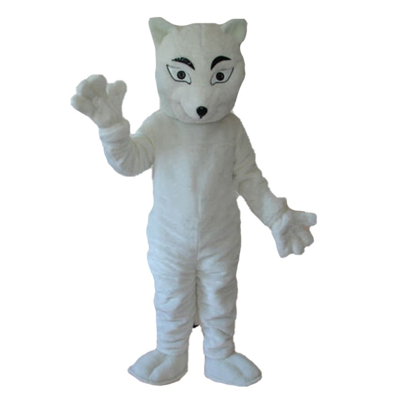 Top Quality Fancy White Fox Mascot Costume